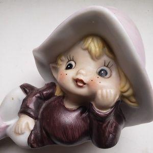 Vintage Homco 5213 Porcelain Ceramic Pixies Figuri